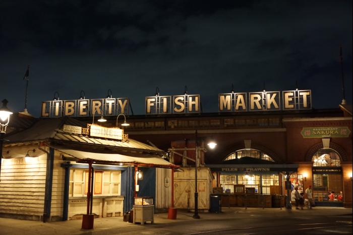 TDS 2015 アメフロ 夜景 波止場 リバティフィッシュマーケット