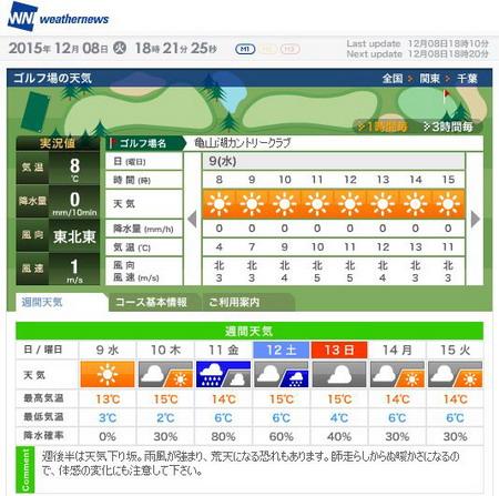 亀山湖天気1