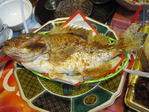 2015年10月28日鯛の塩焼き