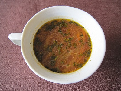 玉ネギおばさんのコンソメ風スープ