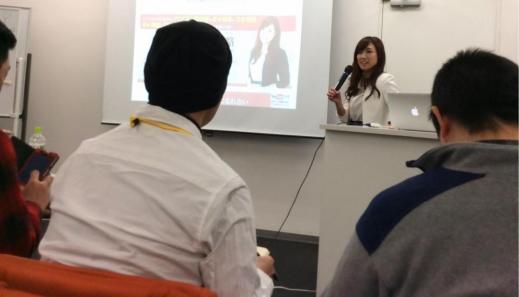 名古屋の勉強会でスピーチする中西先生