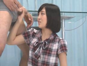 【マジックミラー号】「えっ、コレを握るんですか?」女子アナ志望の女子大生がAV男優へのインタビュー訓練中に犯されるw広瀬うみ