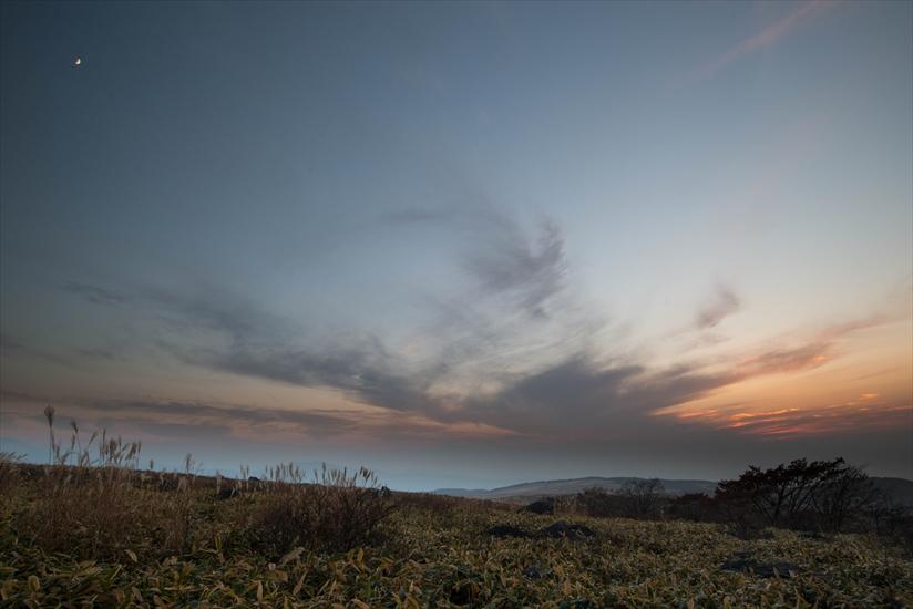 夕日の草原 (2)