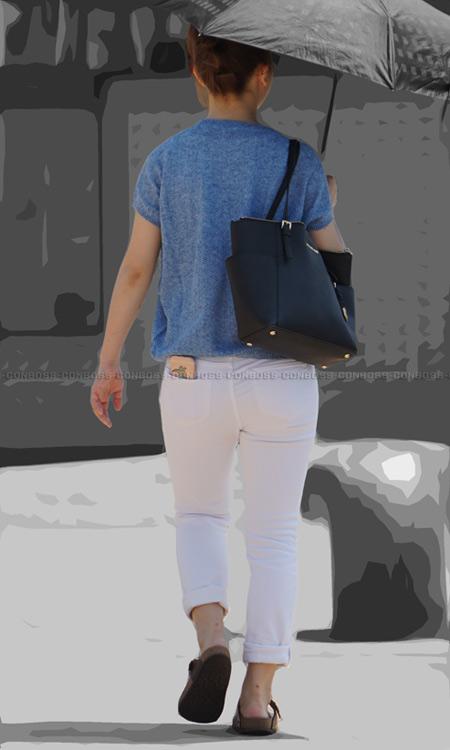■ ■vol273-ぴたっと美尻に食い込むタイトなホワイトパンツ