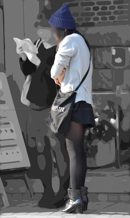 ■ ■ vol280-美脚ラインを際立たせる色気たっぷり素敵な黒タイツ