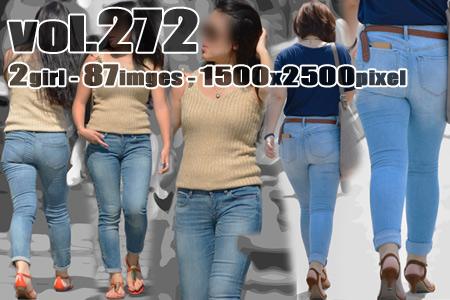■ ■vol272-豊満プリプリデカ尻食い込みピチピチタイトデニム
