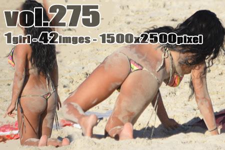 ■ ■vol275-砂浜で色気と食い込みを魅せつけるGストリングビキニのぽっちゃりマーメイド