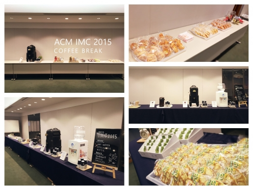 ACM IMC 2015 coffee break