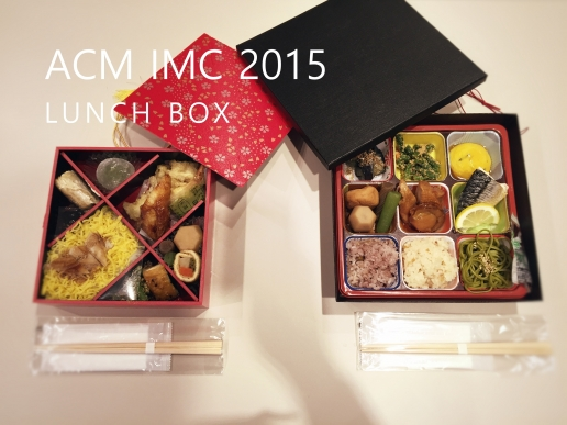 ACM IMC 2015 lunch box