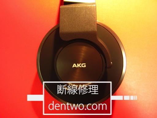 AKG製ヘッドホン・K550を分解、3.5mmステレオミニジャック内蔵によりケーブル着脱式に改造した画像です。Nov 25 2015IMG_1494