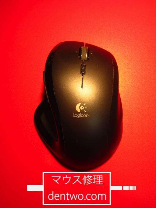 チャタリングの生じたLogicool製マウス・MX-Rのマイクロスイッチ新品交換による修理後の画像です。Dec 07 2015IMG_1712