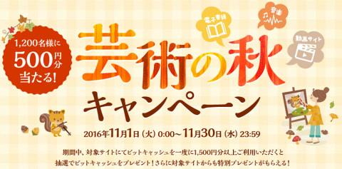 【電子マネー BitCash】 DLサイト 芸術の秋キャンペーン