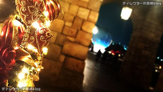 °○°東京ディズニーシー クリスマス・ウィッシュ2015 雨が降り出したちょっぴり幻想的な夜の風景その6