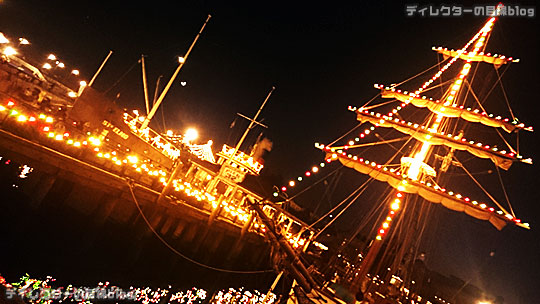 °○°東京ディズニーシー クリスマス・ウィッシュ2015 雨が降り出したちょっぴり幻想的な夜の風景その3