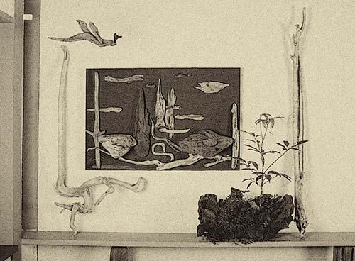 流木で描く山水画-11