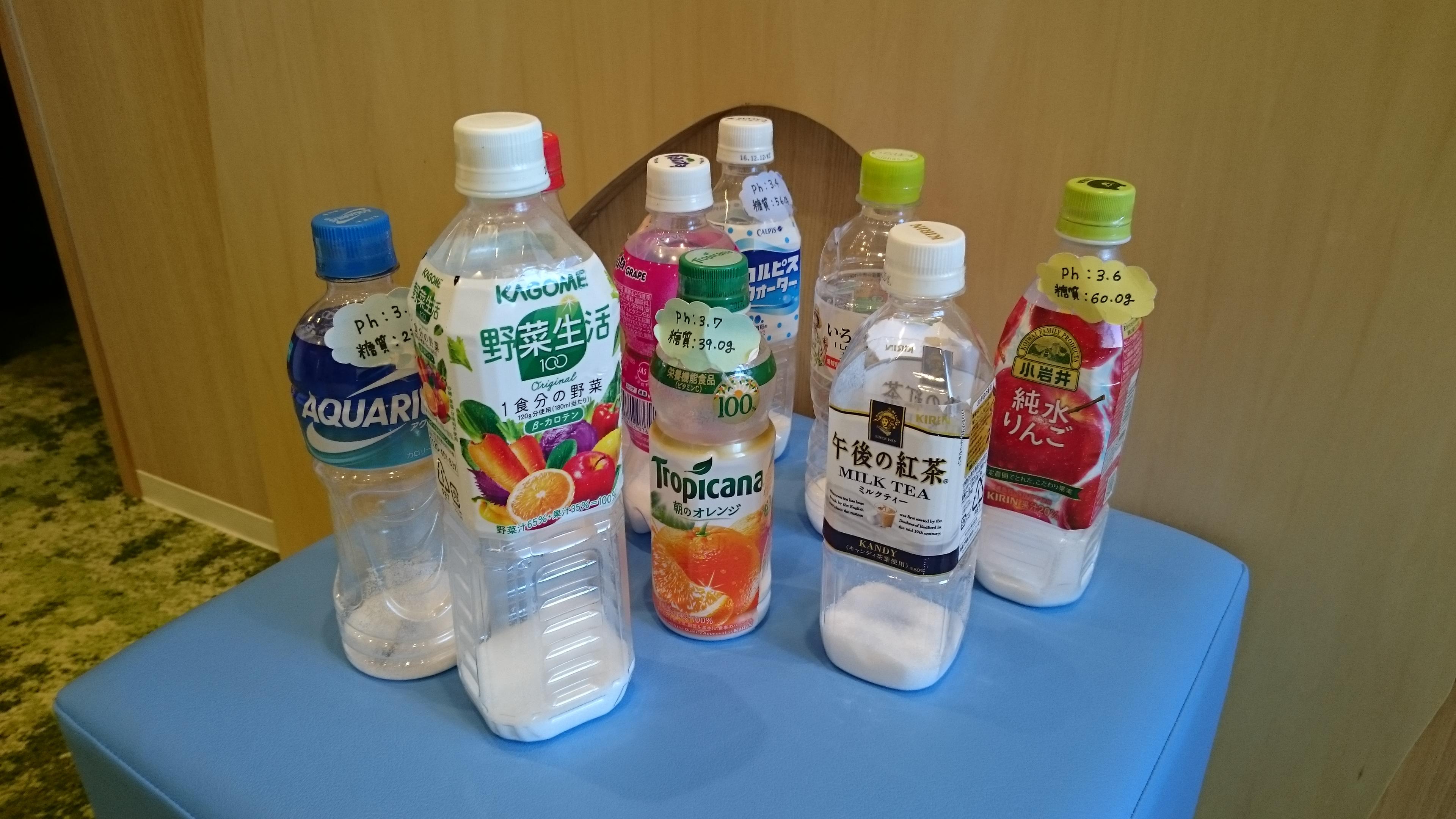 ペットボトルの砂糖含有量