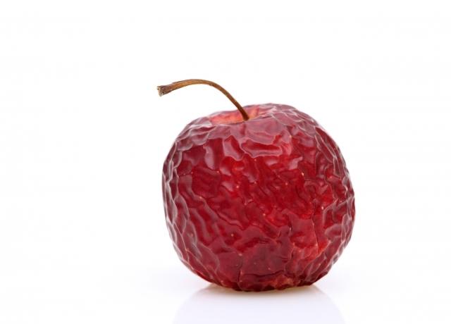 しなびたリンゴ