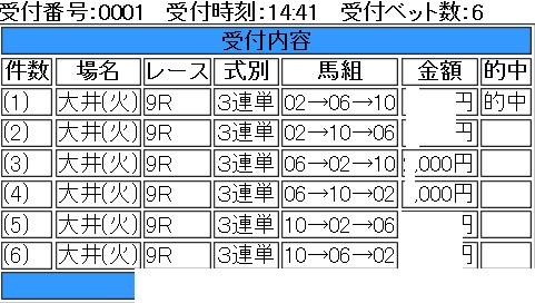 jbcスプリント三連単