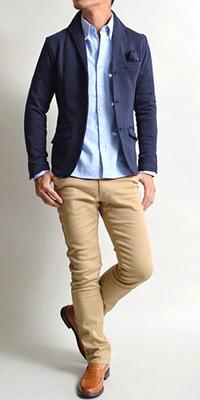 イタリアンカラー ジャケット メンズ コーディネート