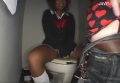 黒ギャルJKにトイレでオナ見して貰いたい!