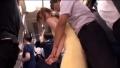 電車内でベビーカー妻のお尻に欲情して・・・