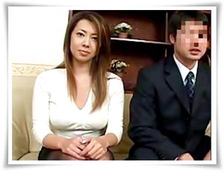 【無修正】夫婦でAV出演するつもりが、旦那の前でハメられまくっちゃうムチムチ妻♪風間ゆみ