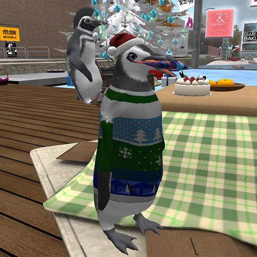 Secondlife ペンギンアバター遊び