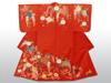 20160830 紅入縫箔 赤地菱に藤模様