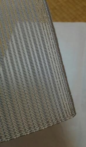 20160904 灰色絽つづれ八寸名古屋帯て手先