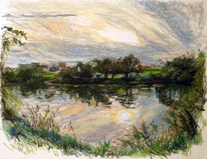 川の静かな日