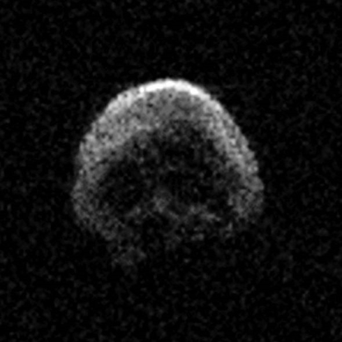 the spooky skull-shaped asteroid