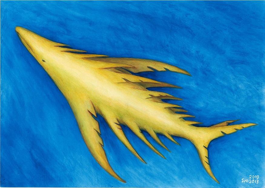 クシヒレクジラ(幻想生物シリーズ:習作)2010-2013年