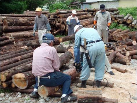 山と森お援助・薪づくり
