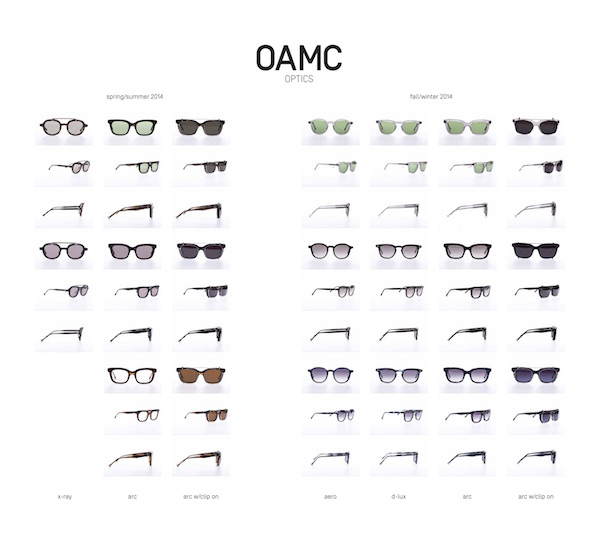 OAMC glasses product shots