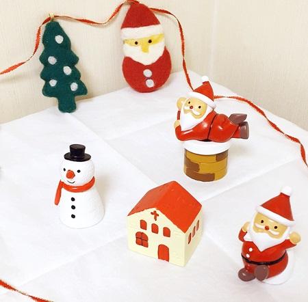 セリア クリスマス置物