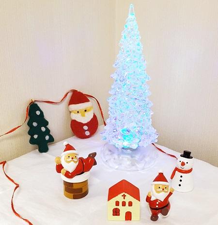 クリスマス飾り 置物 水色