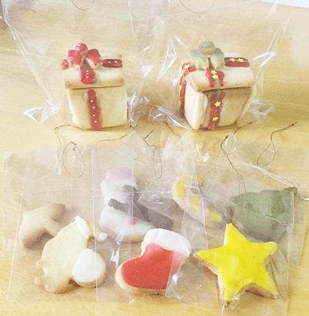 クリスマスクッキー飾る用
