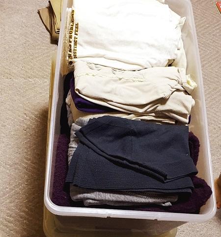 衣装ケースの衣替え服