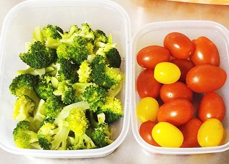 ブロッコリーとプチトマト