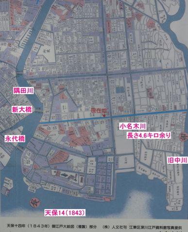 江戸時代の地図と小名木川