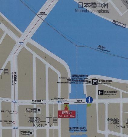 清洲橋付近の地図