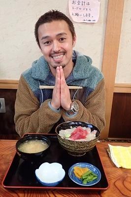 大好きな魚介類と今井洋介さん