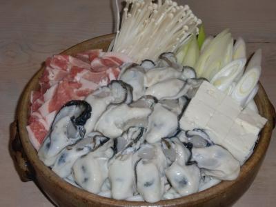 御代桜、牡蠣鍋 009