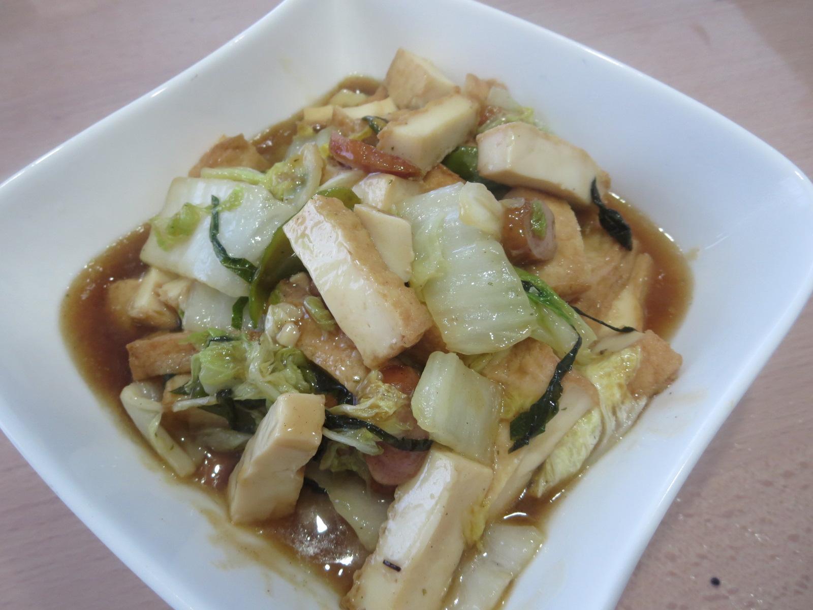 白菜と厚揚げ煮