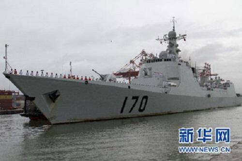 中国海軍のミサイル駆逐艦―『蘭州』