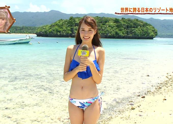 世界さまぁ~リゾートで沖縄の素朴な大学生の水着姿