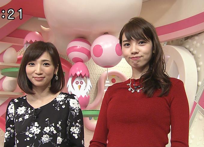おはよん加藤多佳子キャスターの赤セーターおっぱい