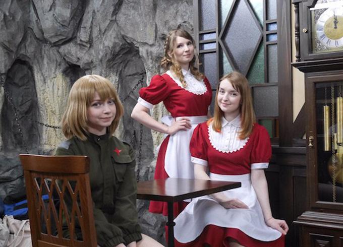 【画像あり】全員ロシア美女のメイドカフェが本日開店!レベルの高さが異常