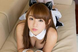 篠崎愛(23)の巨乳過ぎる猫耳メイドコス。画像×16