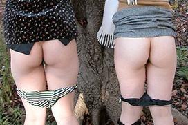 なぜ女の子はすぐに尻を見せたがるのか!?おふざけエロ画像wwww